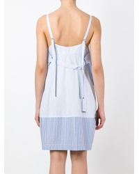 Diesel Black Gold - Blue Contrast Hem Striped Dress - Lyst