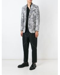 Vivienne Westwood | Gray Printed Striped Blazer for Men | Lyst