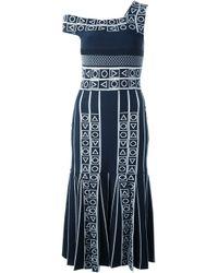 Peter Pilotto - Blue 'index' Jacquard Knit Dress - Lyst