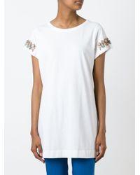 Twin Set White Embellished T-shirt