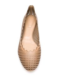 Chloé Brown 'lauren' Perforated Ballerinas