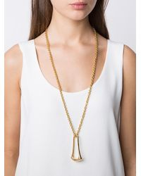 Maiyet - Multicolor 'elongated Sculpt Ring' Necklace - Lyst