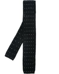 Eleventy - Black Knit Tie for Men - Lyst