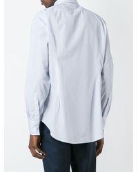 Eleventy - Blue Pencil Stripe Shirt for Men - Lyst