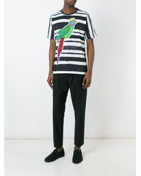 Dolce & Gabbana Black Parrot Print T-shirt for men