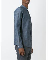 Carhartt - Blue Mandarin Collar Shirt for Men - Lyst
