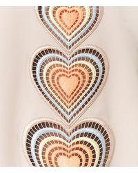 Christopher Kane - Multicolor V Neck Love Heart Motif Dress - Lyst
