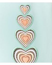 Christopher Kane - Blue Midi Love Heart Motif Skirt - Lyst