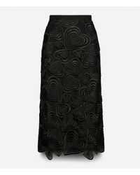 Christopher Kane - Black All Over Love Heart Lace Pencil Skirt - Lyst