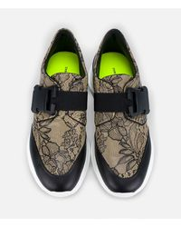 Christopher Kane - Multicolor Lace Print Safety Buckle Trainer - Lyst