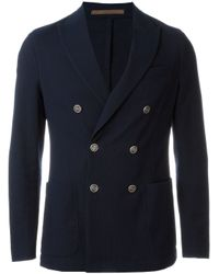 Eleventy Blue Double Breasted Jacket for men