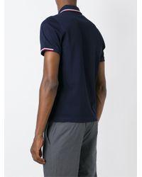 Moncler Blue Logo Polo Shirt for men