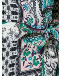 Etro | Black Printed Wrap Top | Lyst