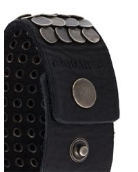 DSquared² - Black Studded Cuff for Men - Lyst