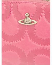 Vivienne Westwood - Pink 'squiggle' Round Make Up Bag - Lyst