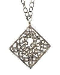 Elise Dray | Metallic Filigree Diamond Pendant Necklace | Lyst