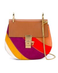 Chloé Multicolor Patchwork Drew Shoulder Bag