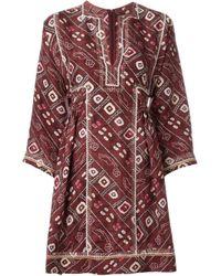 Isabel Marant - Red - 'thurman' Dress - Women - Silk/cotton/viscose - 38 - Lyst