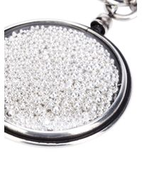 Ann Demeulemeester - Gray Beaded Medallion Charm - Lyst