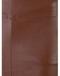 Scanlan Theodore - Brown Stretch Leather Pocket Skirt - Lyst