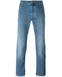 Jacob Cohen Blue Stretch Fabric Straight Leg Jeans for men