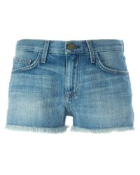 Current/Elliott | Blue Denim Shorts | Lyst