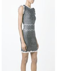 Alexander McQueen | White Lace Jacquard Dress | Lyst