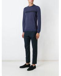 Armani Blue Cashmere Sweater for men