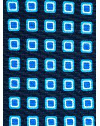 Kiton Blue Square Print Tie for men