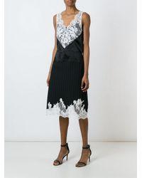 Céline - Black Lace Detail Evening Dress - Lyst