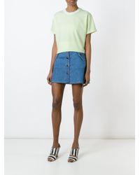 Carven Green Pearl-embellished T-shirt