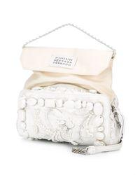 Maison Margiela White Embellished Shoulder Bag