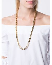 Eddie Borgo | Metallic Pave Smooth Supre Link Necklace | Lyst