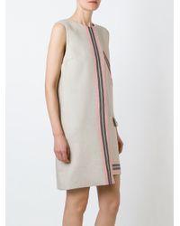 MSGM - Gray Asymmetric Mini Dress - Lyst