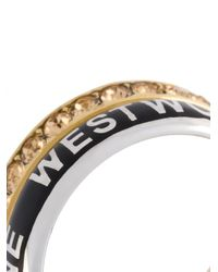 Vivienne Westwood - Metallic Double Band Ring - Lyst