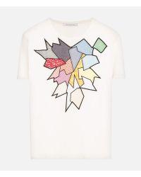 Christopher Kane - White Smashed Shard T-shirt - Lyst