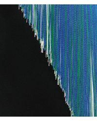 Christopher Kane - Black V-neck Dress With Asymmetric Fringing - Lyst
