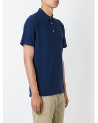 Polo Ralph Lauren Blue Embroidered Logo Polo Shirt for men