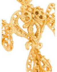 Christian Lacroix - Black Baroque Cross Pendant Necklace - Lyst