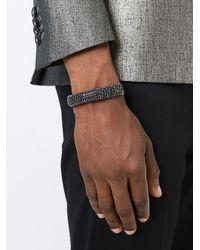 Emanuele Bicocchi   Black Bejeweled Bracelet for Men   Lyst