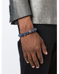 Emanuele Bicocchi | Black Marble Effect Beaded Bracelet for Men | Lyst