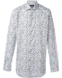 Paul Smith | Black Feather Print Shirt for Men | Lyst