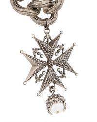 Alexander McQueen - Metallic Cross Medallion Choker - Lyst