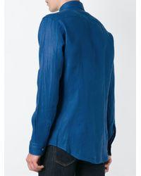 Etro | Blue Button Down Shirt for Men | Lyst