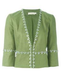 Tory Burch | Green Embellished Jacket | Lyst