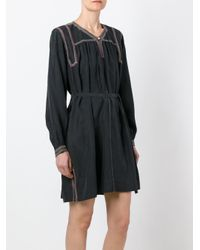 Isabel Marant - Black Embroidered Dress - Lyst