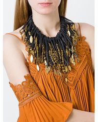 Monies - Black Multi Strand Bead Necklace - Lyst