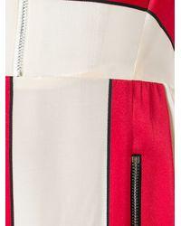 Sportmax Multicolor Zip Detail Striped Dress