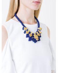 EK Thongprasert - Blue Stone Embellished Necklace - Lyst