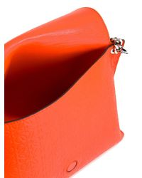 Loewe - Orange Avenue Leather Shoulder Bag - Lyst